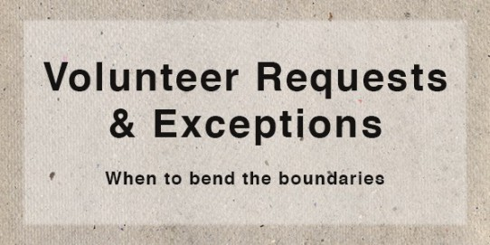 Handling Volunteer Requests