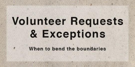 Handling Volunteer Requests